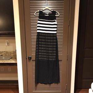 Vince Camuto Sheer Bottom Maxi Dress Sz. M